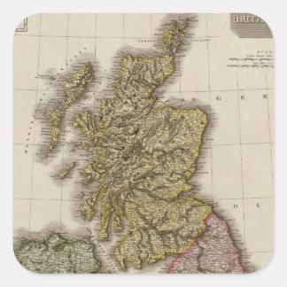 Islas británicas 7 pegatina cuadrada