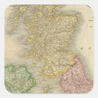 Islas británicas 8 pegatina cuadrada