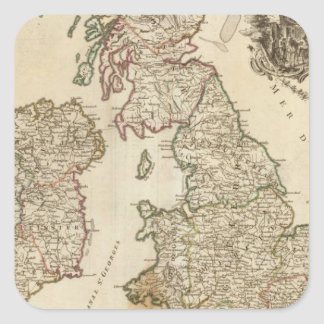 Islas británicas 9 pegatina cuadrada