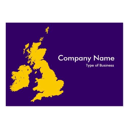Islas británicas - ambarinas y violeta oscura tarjetas de visita grandes
