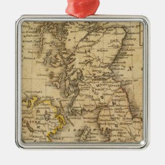 Islas británicas, Asia Adorno Cuadrado Plateado