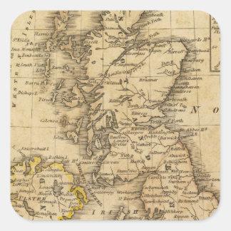Islas británicas, Asia Pegatina Cuadrada