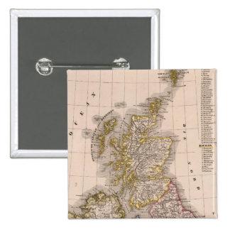 Islas británicas, Inglaterra, Irlanda Pin Cuadrado