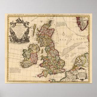 Islas británicas, Inglaterra, Irlanda Póster