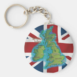 Islas británicas llavero redondo tipo pin