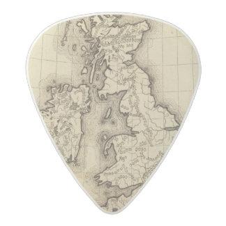 Islas británicas púa de guitarra acetal