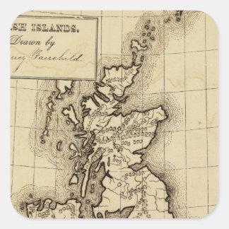 Islas británicas pegatina cuadrada