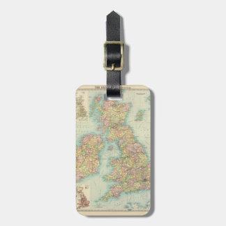 Islas británicas - políticas etiquetas para equipaje