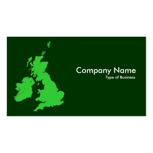 Islas británicas - sombras del verde plantillas de tarjetas de visita