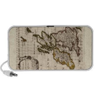 Islas Britanniques - mapa 1700 de Nicolás Fils San Altavoces De Viaje