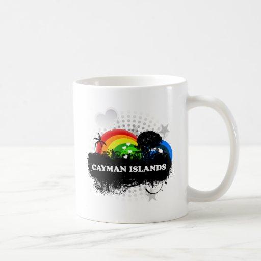 Islas Caimán con sabor a fruta lindas Taza Básica Blanca