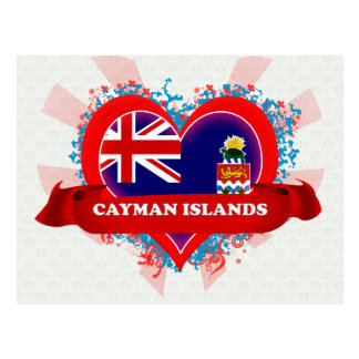 Islas Caimán del amor del vintage I Tarjetas Postales