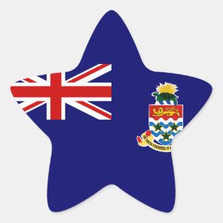 Islas Caimán Pegatina En Forma De Estrella