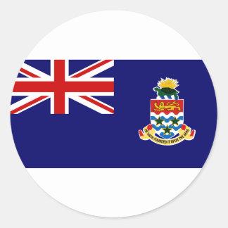 Islas Caimán Pegatina Redonda