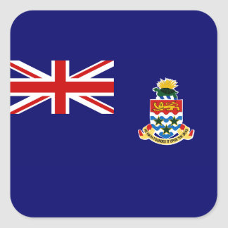 Islas Caimán Pegatina Cuadrada