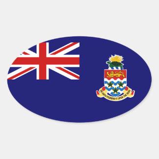 Islas Caimán Pegatina Ovalada
