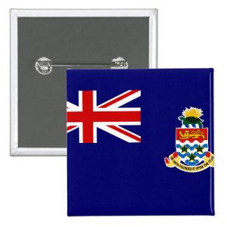Islas Caimán Pin Cuadrada 5 Cm