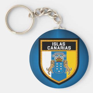 Islas Canarias Flag Keychain