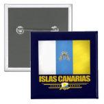 Islas Canarias (islas Canarias) Pin Cuadrado