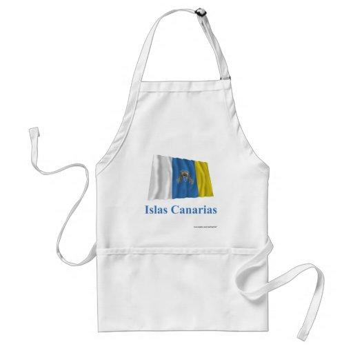 Islas Canarias que agitan la bandera con nombre en Delantales