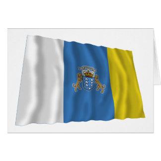Islas Canarias que agitan la bandera Tarjeta De Felicitación