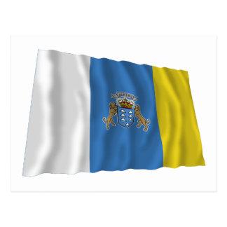 Islas Canarias que agitan la bandera Tarjeta Postal