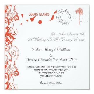 Islas Canarias que casan la invitación Invitación 13,3 Cm X 13,3cm