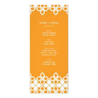 Islas caribeñas que casan la tarjeta del menú invitación 10,1 x 23,5 cm