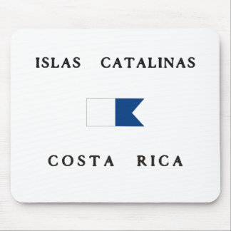 Islas Catalinas Costa Rica Alpha Dive Flag Mouse Pad