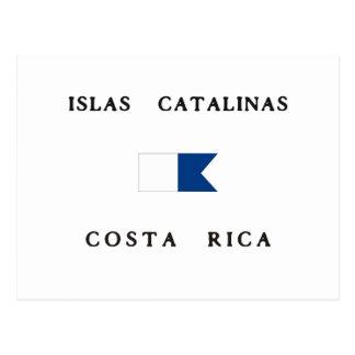 Islas Catalinas Costa Rica Alpha Dive Flag Postcard