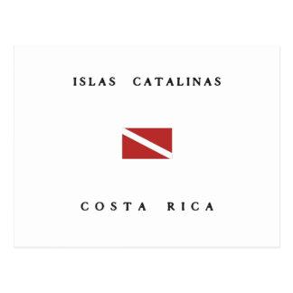 Islas Catalinas Costa Rica Scuba Dive Flag Postcard