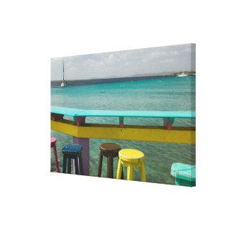 Islas de ABC, BONAIRE, Kralendijk: Vista al mar Impresión En Lona Estirada