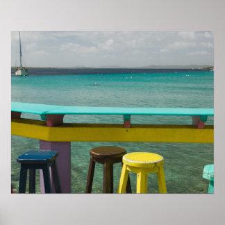 Islas de ABC, BONAIRE, Kralendijk: Vista al mar Póster