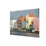 Islas de ABC, CURAÇAO, Willemstad: Harborfront 2 Lienzo Envuelto Para Galerias