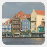 Islas de ABC, CURAÇAO, Willemstad: Harborfront 2 Pegatina Cuadradas Personalizada