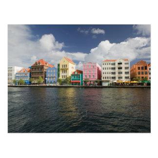 Islas de ABC, CURAÇAO, Willemstad: Harborfront Tarjeta Postal