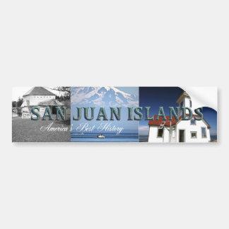 Islas de ABH San Juan Pegatina De Parachoque