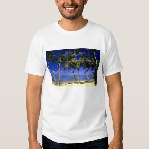 Islas de cocinero alineadas palma de la playa 4 polera