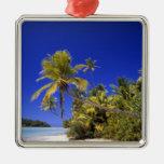 Islas de cocinero alineadas palma de la playa 7 ornamentos para reyes magos