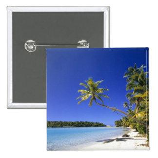 Islas de cocinero alineadas palma de la playa pin
