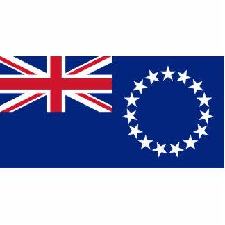 Islas de cocinero, bandera de Nueva Zelanda Esculturas Fotograficas