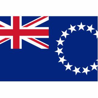 Islas de cocinero, bandera de Nueva Zelanda Escultura Fotográfica