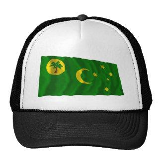 Islas de Cocos que agitan la bandera Gorra