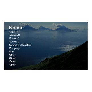 Islas de cuatro montañas tarjetas de negocios