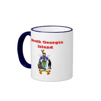 Islas de Falkalnd - isla del sur de Georgia Taza De Dos Colores