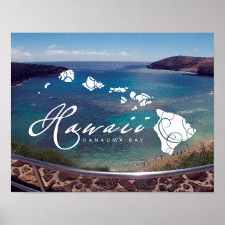 Islas de Hawaii de la hawaiana Posters
