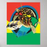 Islas de Hawaii de la tortuga del reggae de Hawaii Impresiones