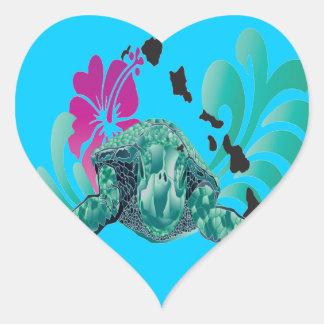 Islas de Hawaii Pegatina En Forma De Corazón