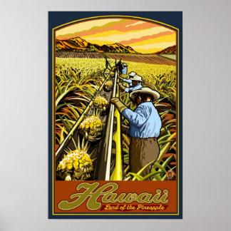 Islas de Hawaii - poster del viaje de la cosecha d Póster