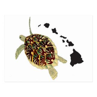 Islas de Hawaii y tortuga de Hawaii Postal